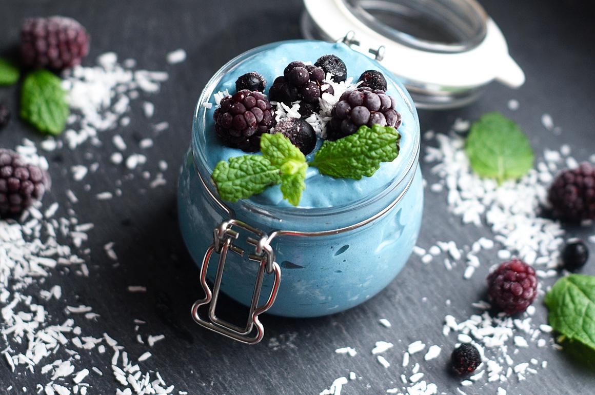 blå spirulina